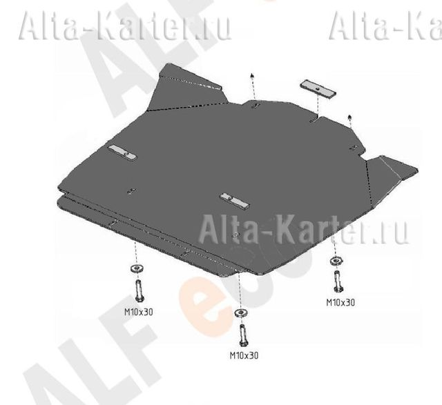 "Защита ""Alfeco"" для КПП Chrysler 300C I 2005-2007. Артикул ALF.33.04 AL5"