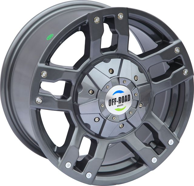 "Колёсный диск ""OFF-ROAD Wheels"" литой серый 6x139,7 8xR16 d110 ET+10 для Mitsubishi Pajero Sport I 1998-2008. Артикул A1680-63910GM+10"