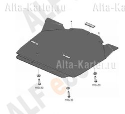 "Защита ""Alfeco"" для КПП Chrysler 300C I 2005-2007. Артикул ALF.33.04 AL4"