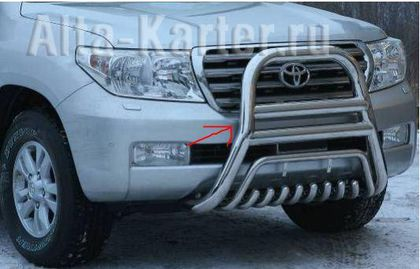 Кенгурятник оригинальный d76/51 для Toyota Land Cruiser 200 2012-2015. Артикул NL20550561