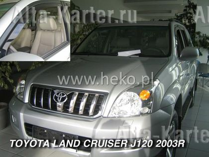 "Дефлекторы ""Heko"" для окон Toyota Land Cruiser Prado 120 2003-2008. Артикул 29355"